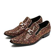 baratos Sapatos Masculinos-Homens Sapatos formais Pele Verão Mocassins e Slip-Ons Branco / Amarelo / Escritório e Carreira