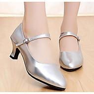 billige Moderne sko-Dame Moderne sko PU Høye hæler Tykk hæl Dansesko Gull / Svart / Sølv