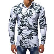 Herre - Blomstret Trykt mønster Basale Skjorte