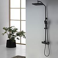Βρύση Ντουζιέρας - Πεπαλαιωμένο Βαμμένα τελειώματα Επιτοίχιες Κεραμική Βαλβίδα Bath Shower Mixer Taps / Ορείχαλκος / Δύο λαβές δύο τρύπες