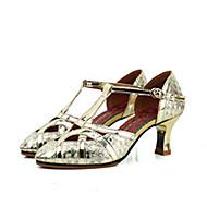 billige Moderne sko-Dame Moderne sko Griseskinn Høye hæler Tykk hæl Dansesko Gull / Sølv / Ytelse / Trening