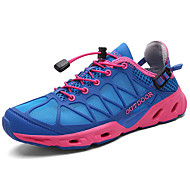 billige Træningssko til damer-Dame Sko Net Sommer Komfort Sportssko Vandring Flade hæle Mørkeblå / Grå
