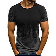 Homens Camiseta Activo / Básico Estampado, Geométrica