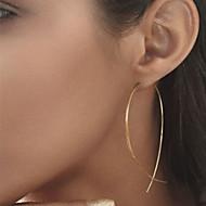 Női Beszúrós fülbevalók Fülbevaló hölgyek Európai minimalista stílusú Divat Ékszerek Fekete / Ezüst / Aranyozott Kompatibilitás Parti Napi Hétköznapi