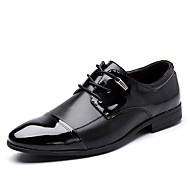 tanie Small Size Shoes-Męskie formalne Buty Skóra patentowa Jesień Oksfordki Czarny / Brązowy