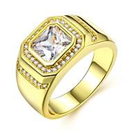 Herre Stilfuldt Ring - Simuleret diamant Kostbar Luksus, Klassisk, Mode 8 / 9 / 10 Guld Til Karneval / Stævnemøde