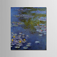 preiswerte -Hang-Ölgemälde Handgemalte - Berühmte / Landschaft Modern Segeltuch