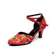 billige Moderne sko-Dame Moderne sko PU Joggesko Tykk hæl Dansesko Svart / kaffe / Rød / Trening