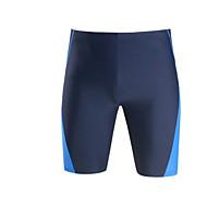 สำหรับผู้ชาย ขนาดพิเศษ พื้นฐาน สีดำ สีน้ำเงินกรมท่า Swim Trunk กางเกงว่ายน้ำ ชุดว่ายน้ำ - สีพื้น / ลายบล็อคสี XXL XXXL XXXXL / Sexy
