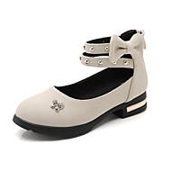 baratos Sapatos de Menina-Para Meninas Sapatos Couro Ecológico Primavera Verão Conforto Rasos Caminhada Miçangas para Adolescente Bege / Verde / Rosa claro