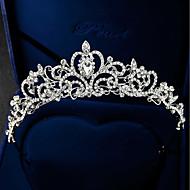Mujer Con Cuentas,Brillante Plateado Legierung Zirconia Cúbica Tiaras frente Corona-Formal Elegante