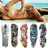 billiga Temporära tatueringar-5 pcs tillfälliga tatueringar Totemserier / Blomserier Lena klistermärken / Engångsvara / Säkerhet Body art arm / Ben / Dekalstil tillfälliga tatueringar