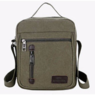 Men's Bags Canvas Shoulder Bag Zipper Military Green / Coffee / Khaki