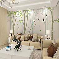 billige Tapet-bakgrunns / Veggmaleri Lerret Tapetsering - selvklebende nødvendig Trær / Blader / Art Deco / Flise