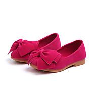 baratos Sapatos de Menina-Para Meninas Sapatos Couro Ecológico Primavera & Outono Sapatos para Daminhas de Honra Rasos Caminhada Laço para Infantil Amarelo / Fúcsia / Rosa claro