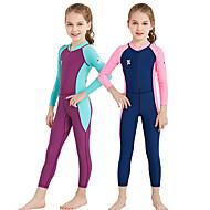 Dive&Sail Κοριτσίστικα Dive κοστούμι του δέρματος Προστασία από τον ήλιο UV Συμπίεση UPF50+ Νάιλον Spandex Πλήρης κάλυψη Μαγιό Ρούχα παραλίας Προστατευτικά Μποστινό Φερμουάρ / Ελαστικό