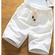 hesapli Under $13.99-Erkek Pamuklu Şortlar Pantolon - Solid Beyaz