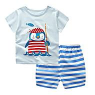 Bambino Da ragazzo Attivo Quotidiano A strisce / Con stampe Con stampe Manica corta Standard Cotone Completo Blu