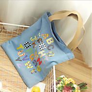 baratos Bolsas de Ombro-Mulheres Bolsas Algodão Bolsa de Ombro Estampa Azul / Azul Escuro / Azul Céu