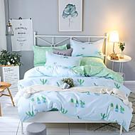 billige Moderne dynetrekk-dyne deksel setter moderne poly / bomullsreaktive trykk 4 stk sengetøy sett / 300 / (hvis tvilling størrelse, bare 1 sham eller putevar) konge