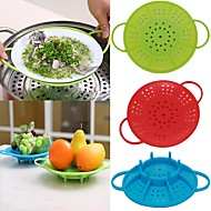 tanie Akcesoria do owoców i warzyw-Narzędzia kuchenne Silikonowy Drenaż Naczynie parowe Wielofunkcyjne / Do naczynia do gotowania 1szt