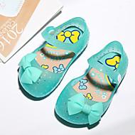 baratos Sapatos de Menina-Para Meninas Sapatos PVC Verão Plástico Rasos Laço / Velcro para Bébé Vermelho / Verde / Rosa claro