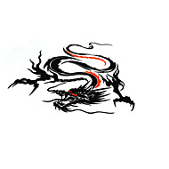 cheap Car Body Decoration & Protection-Black / Silver / Yellow Car Stickers Chinese Style Door Stickers Animal Stickers