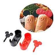 billige Bakeredskap-Bakeware verktøy Plast GDS Til Småkake / For kjøkkenutstyr / For Ris Cake Moulds 2pcs