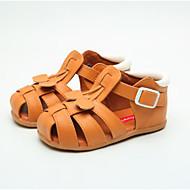 baratos Sapatos de Menino-Para Meninos / Para Meninas Sapatos Couro Sintético Primavera Verão Conforto Sandálias Vazados para Bébé Branco / Marron