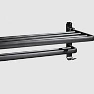 cheap Bathroom Products-Bathroom Shelf Foldable Contemporary Aluminum 1pc Double Wall Mounted