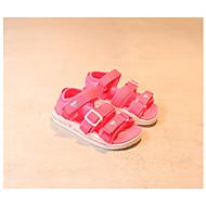 baratos Sapatos de Menina-Para Meninos / Para Meninas Sapatos Sintéticos Verão Conforto Sandálias para Branco / Preto / Pêssego