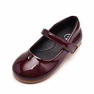 baratos Sapatos de Menina-Para Meninas Sapatos Couro Sintético / Couro Ecológico Primavera & Outono Conforto / Sapatos para Daminhas de Honra Rasos para Preto / Vinho