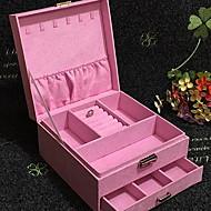 tanie Przechowywanie biżuterii-Przechowywanie Organizacja Kosmetyczny makijaż organizator Mieszane materiały Kwadratowe Wielowarstwowy