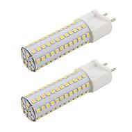 billige Bi-pin lamper med LED-2pcs 9 W 820 lm G12 LED-lamper med G-sokkel T 108 LED perler SMD 2835 Nytt Design Varm hvit / Kjølig hvit 85-265 V