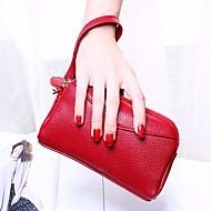 baratos Clutches & Bolsas de Noite-Mulheres Bolsas PU Bolsa de Mão Ziper Rosa / Vinho