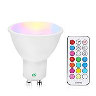 billige Spotlys med LED-YWXLIGHT® 1pc 5 W 200-300 lm GU10 LED-spotpærer 1 LED perler COB Mulighet for demping / Fjernstyrt RGBW / RGBWW 85-265 V
