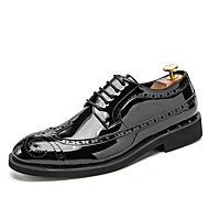 baratos Sapatos Masculinos-Homens Bullock Tênis Microfibra Inverno Oxfords Dourado / Preto / Prateado