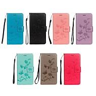 billiga Mobil cases & Skärmskydd-fodral Till Huawei Y6 (2018) / Y5 III(Y5 2017) Plånbok / Korthållare / med stativ Fodral Fjäril / Blomma Hårt PU läder för Y9 (2018)(Enjoy 8 Plus) / Huawei Y7 Prime(Enjoy 7 Plus) / Huawei Y6 (2018)