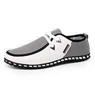 tanie Obuwie męskie-Męskie Komfortowe buty PU Wiosna / Jesień W stylu brytyjskim Adidasy Spacery Czarny / Zielony / Niebieski