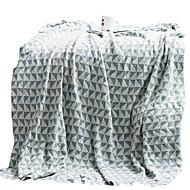 billiga Filtar och plädar-Super Soft, Reaktiv Tryck Geometrisk Bomull / Polyester filtar