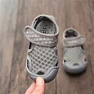 baratos Sapatos de Menino-Para Meninos / Para Meninas Sapatos Algodão Verão Conforto Sandálias Velcro para Infantil Cinzento / Amarelo / Rosa claro