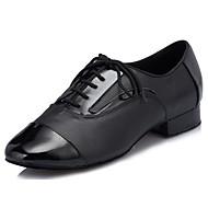 billige Moderne sko-Dame Moderne sko Lær Oxford / Høye hæler Kubansk hæl Dansesko Svart / Ytelse / Trening