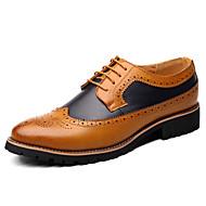 baratos Sapatos Masculinos-Homens Sapatos formais Couro Sintético Outono & inverno Negócio Oxfords Listrado Preto / Amarelo / Marron / Festas & Noite