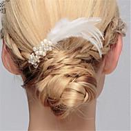 Imiteret Perle / Fjer med Fjer / Imiterede Perler 1 stk Bryllup / Speciel Lejlighed Medaljon