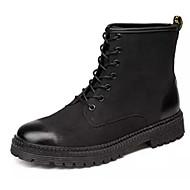 baratos Sapatos Masculinos-Homens Coturnos Couro Sintético Inverno Botas Botas Cano Médio Preto / Cinzento