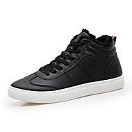 baratos Sapatos Masculinos-Homens Couro Ecológico Inverno Conforto Tênis Branco / Preto