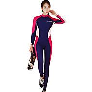 Žene Ronilačko odijelo kože SPF30, UV zaštitu od sunca, Quick dry Poliester / Najlon / Spandex Kompletna maska Kupaći kostimi Plaža Nosite Ronilačka odijela Kolaž Prednji Zipper Surfanje / Ronjenje