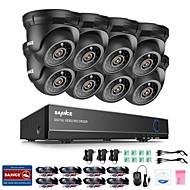 billige DVR-Sett-sannce® 8ch 8pcs 720p sycurity system hdmi ir nattesyn utendørs cctv kamera hjem sikkerhet system overvåkningssett med 1tb hd