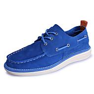 baratos Sapatos Masculinos-Homens Sapatos Confortáveis Camurça Primavera / Outono Casual Sapatos de Barco Azul Escuro / Azul Real