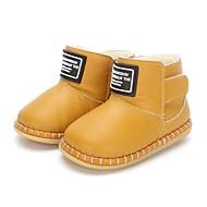 baratos Sapatos de Menino-Para Meninos Sapatos Couro Inverno Conforto / Primeiros Passos Botas Velcro para Bebê Preto / Amarelo Claro / Marron / Botas Curtas / Ankle